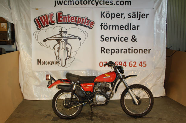 """Picture of Honda XL100cc 1978,  """"SOLD"""""""