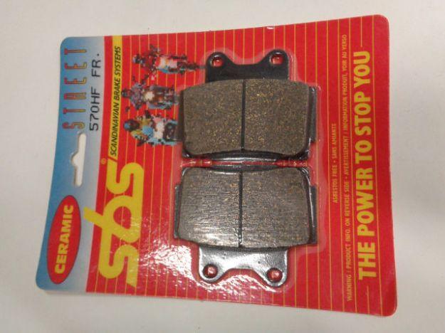 Picture of SBS Brake pads/bromsbelägg 570HF FRONT/570HF.S Ceramic Street