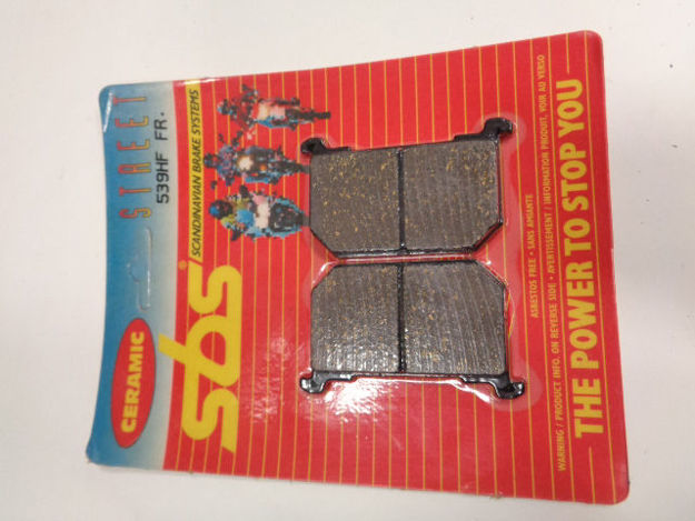 Picture of SBS Brake pads/bromsbelägg 539HF FRONT/539.S Ceramic Street