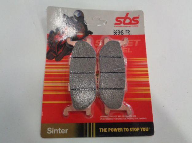 Picture of SBS Brake pads/bromsbelägg 663HS FRONT/23-663HS.S Sinter